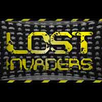 Space Invaders surround the Lost Invaders logo