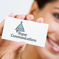 The Teepee Communications speechbubble wigwam logo