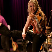 One of the Barrage fiddlers, Kristina Bauch