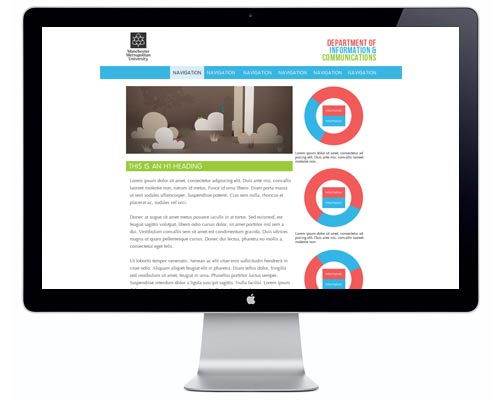 The mockup work for the Department of InfoComms website
